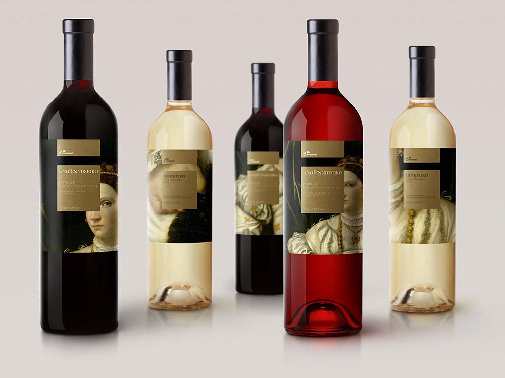 """Αυτοκόλλητες ετικέτες οίνου """"Αναγεννησιακό"""""""