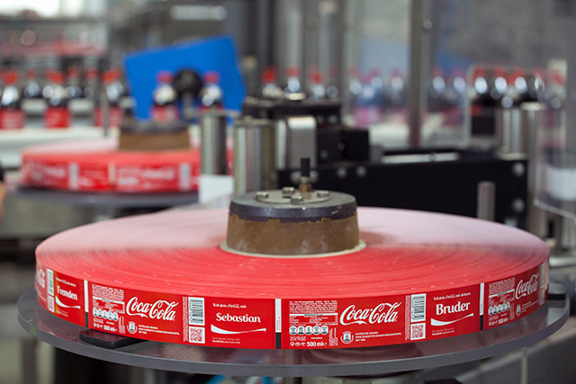 """Flexible packaging - Coca Cola, """"share a coke with"""""""